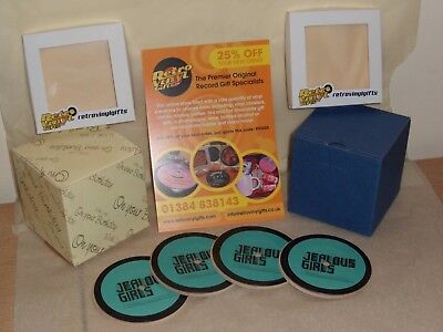 Set of 4 Vinyl Record Drinks Coasters GOSSIP Presentation Box Gift Indie Rock
