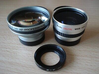 Kenko Digital Wide 0.5x SGW-05 & Vitacon 2.5x Super Tele HR AF 37mm Lens + adapt