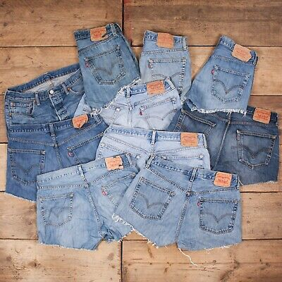 25 x Pairs Grade B Wholesale Levis 501 Vintage Worn Denim SHORTS Job Lot. Womens