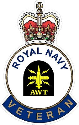 Royal Navy Awt Veteran Sticker - Uk - Cars - Vans - Laptops