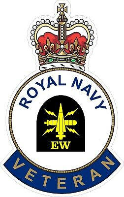 Royal Navy Ew Veteran Sticker - Uk - Cars - Vans - Laptops