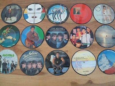 "PICTURE DISCS 7"" VINYL RECORDS   M - Q   Pop Music Chart Presentation Gift Boxed"