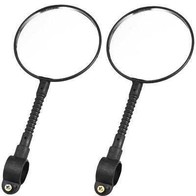 2x BICYCLE REAR VIEW MIRRORS Adjustable Pair Bike Cycling Vision Safety Rearview