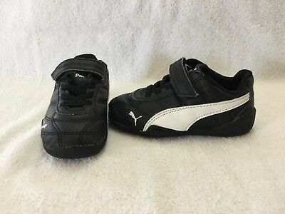 ea5b6a0cfe274 PUMA SUEDE TRAINERS Infant Boys Black/White Sneakers Sports Shoes ...