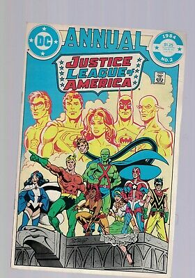 DC Comics Justice League of America Annual no 2 1984 $1.25 USA 1ST APP VIBE