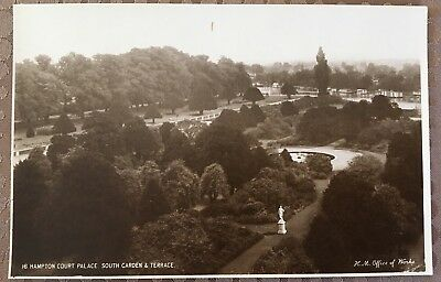Hampton Court Palace Postcard RPPC South Garden And Terrace Unposted