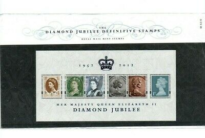 2012 Royal Mail Presentation Pack - The Diamond Jubilee Definitive Stamps MS