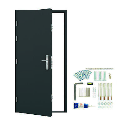Steel Security Personnel Door - Anthracite Grey - 19 Locking Pts   Latham's