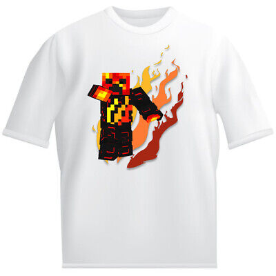 prestonplayz Kids White T shirt childrens Youtube gaming preston skin