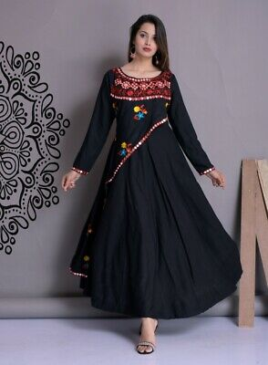 INDIAN DESIGNER FLARED Gown New Bollywood Wedding Party Wear