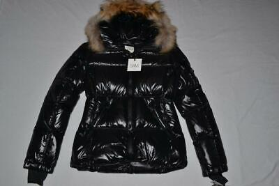 b6ce22eb30d5 AUTHENTIC SAM. Blake Fur-Trim Short Down Coat Hood Black Jet ALL SIZES BRAND