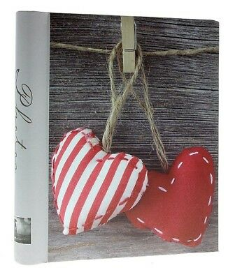 Large Grey Self Adhesive Photo Album 20Sheets / 40Sides Red Heart Memories Gift