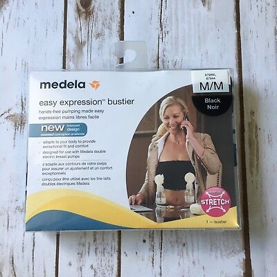 New Medela Easy Expression Bustier Top Black M Pumping Breastfeeding Nursing