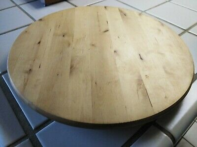 Ikea Lazy Susan Large Solid Wood Turntable Wooden Serving Tray Lknew Euc 15