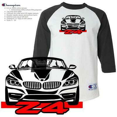 BMW Z4 Z 4 Exotic Sports Car Convertible Graphic Champion Raglan Custom T Shirt
