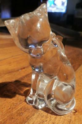 CRYSTAL SITTING CAT Paperweight Figurine - $12 95 | PicClick
