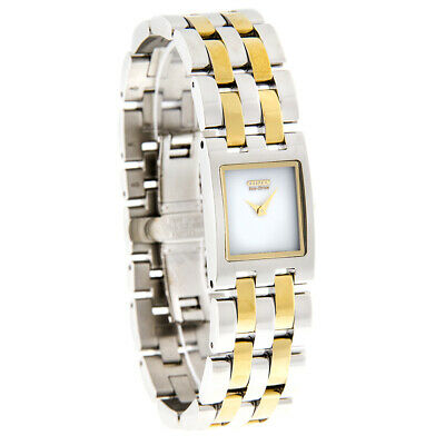 Citizen Eco-Drive Ladies Jolie Series White Dial Two Tone Dress Watch EX1304-51A