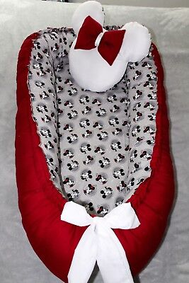 Baby Nest Sleeper Bedding Double side with Toy Pillow. portable infant sleeper