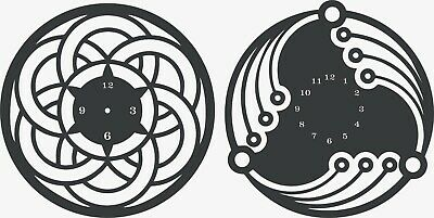 CNC VECTOR DXF Plasma Router Laser Cut DXF-CDR Vector Files - Wall Clock -  ART