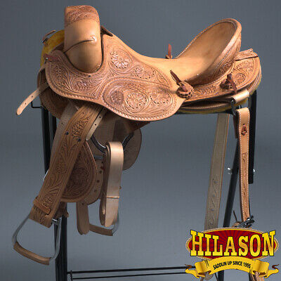 "U-L-16 16"" Hilason Classic Series Hand-Made Rodeo Bronc American Leather Saddle"
