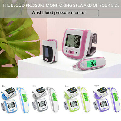 Electronic Thermometer Wrist Pulse Oxygen Monitor  Fingertip Pulse Oximeter Set