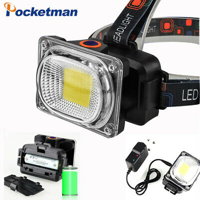 Rechargeable COB LED Headlamp Adjustable Torch Head Lamp 18650 Headlight