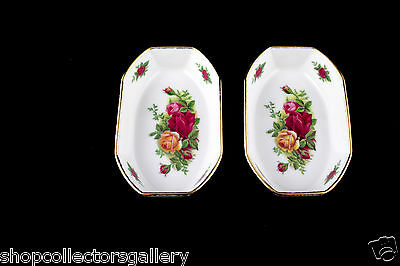 """Set Of 2 Royal Albert China Old Country Roses 4-7/8"""" Dishes - Mint"""