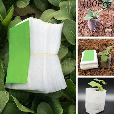 100pcs Garden Nursery Germinate Grow Seed Seeding Pot Bag Non-woven Fabric