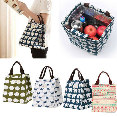 Adults Kids Lunch Bags Portable Insulated Cool Bag Picnic Bags School Lunchbox