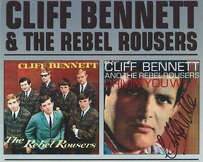 Cliff Bennett HAND SIGNED 8x10 Photo, Autograph Rebel Rousers Drivin' You Wild B
