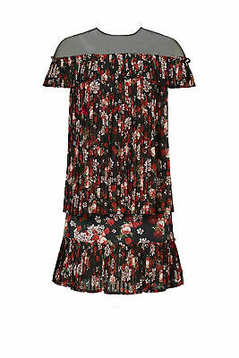 Mother of Pearl Black Women's Size 8 Floral Print Shift Dress Silk $1125- #298