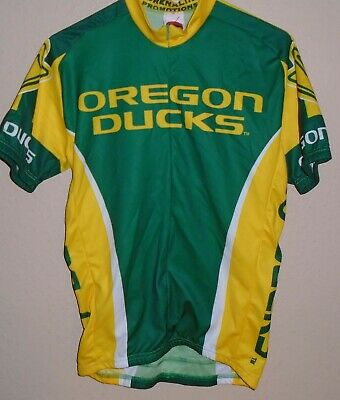 the latest e4a4d 0a5e4 UNIVERSITY OREGON DUCKS Green Cycling Jersey Size Medium World Jerseys