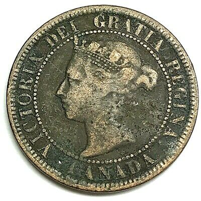 1884 Canada One (1) Cent - Queen Victoria - 135 YEARS OLD! (DD2294)