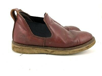 e0d7ec51317 Mens Western Chief Leather Brown Slip On Boots Ankle Shoes 12 STYLE 23D (E7)