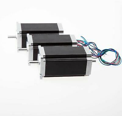 Longs Motor 3pcs Nema 23 dual shaft stepper motor 425 oz.in 4.2A 112mm CNC/MILL