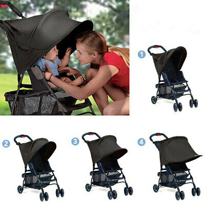 E857 Baby Carriage Stroller Awnings Sunshade UV Protection For Outdoor Spandex