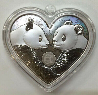 2019 China Valentine's Day Heart Love Panda 25g Silver Medal