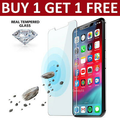 Tempered Glass Screen Protector For Apple iPhone X XS- 100%