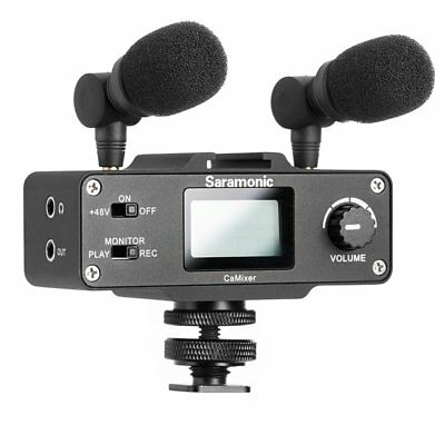 Saramonic CaMixer Dual Stereo Microphone With Audio Mixer For Camera Camcorder