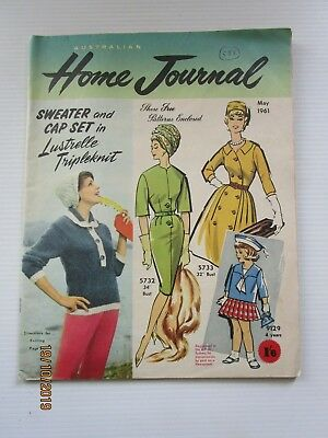 Australian Home Journal May 1961 - includes patterns  - FREE POSTAGE