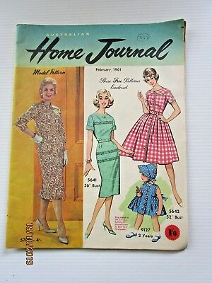 Australian Home Journal February 1961 - includes patterns  - FREE POSTAGE