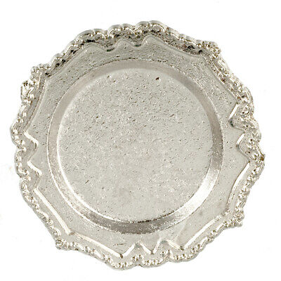 Round Metal Tray, Dolls House Miniature, Accessory, Tableware