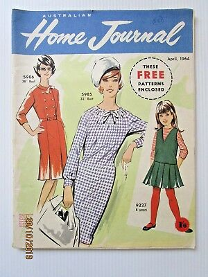 Australian Home Journal April 1964 - INCLUDES PATTERNS - FREE POSTAGE