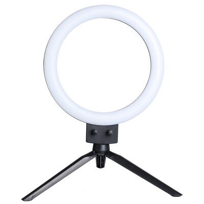 "7"" LED Ring Light w/ Stand Kit 5500K Dimmable Lighting Makeup for Camera Phone"