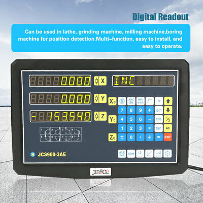 2/3 Axis Digital Readout for Milling Lathe Machine +Linear Scale 50/100/800mm