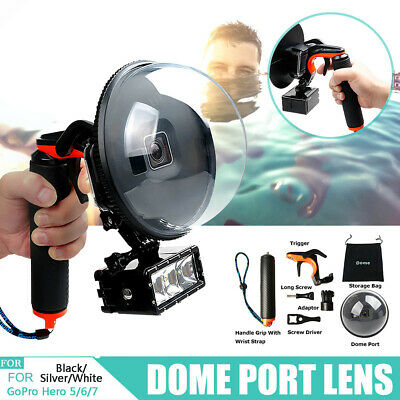 """6"""" Diving Underwater Camera Cover Lens Hood Dome Port for Gopro Hero 5/6/7 MECO"""