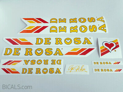 MARASTONI yellow letters  decal set sticker complete bicycle FREE SHIPPING