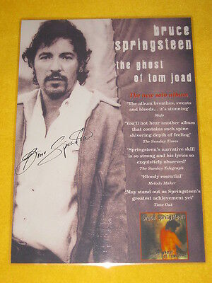 Bruce Springsteen - The Ghost Of Tom Joad  - Laminated AUTOGRAPHED  Promo Poster