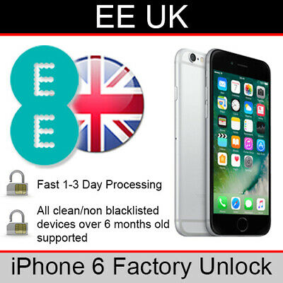 EE UK iPhone 6 Factory Unlocking Service (FAST 1-3 WORKING DAY SERVICE)