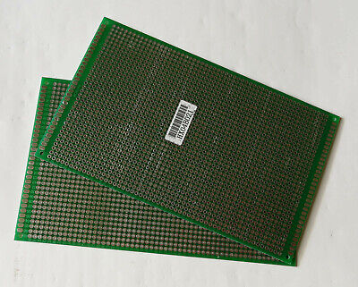 2pc Double Sided FR-4 PCB Prototyping Perf Boards Breadboard DIY 9x15cm 90x150mm